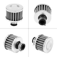12mm Car Motor Cold Air Intake Filter Kit Turbo Vent Crankcase Breather Silver