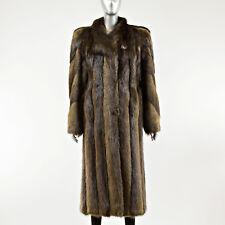 Long Hair Beaver Fur Coat - Size M