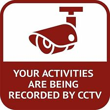CCTV in Operation Your Activities Are Being Sticker Decal Graphic Vinyl Label