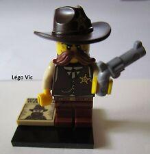 Légo 71008 Minifig Figurine Série 13 Sheriff n°8 + socle + fiche