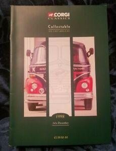 CORGI CLASSICS COLLECTABLE 1998 DEALER CATALOG BUSES 007 BOND SPORTS CAR DIECAST