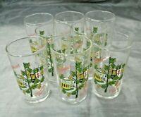 "Set of 8-.1L 3 1/4"" Collectible Germany Glasses Weinort Bremm Mosel Wine Shot EC"