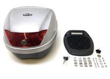 28 Liter Topcase klein schwarz silber 395 x 300 x 395mm für Yamaha Aerox 50 100