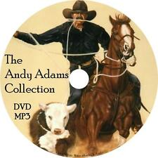 Andy Adams Audio Book Collection Cowboy Western Unabridged English on 1 MP3 DVD