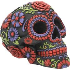Skull Ornament Sugar Blooms Rose Dead Day Gothic Art Gifts Figurine Decor Figure