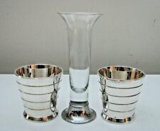 Ralph Lauren Silver Montgomery Votive Candle Set pair (2) + Bud Vase