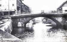 LINCOLNSHIRE PRINTED POSTCARD OF THE RIVER ANCHOLME & BRIDGE BRIGG C.1960