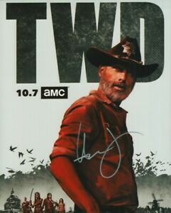 ANDREW LINCOLN THE WALKING DEAD SIGNED 8X10 PHOTO WITH COA