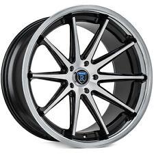 "4ea 19"" Rohana Wheels RC10 Machined Black Rims (S5)"