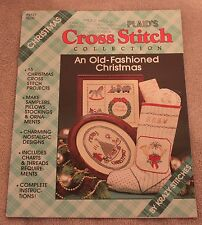 Plaid's AN OLD-FASHIONED CHRISTMAS cross stitch booklet 15 projects!