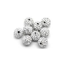 8 Mm Clair Shamballa Argile Cristal Strass Boule Disco Perles pk-2
