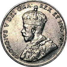 Vintage Coin Canada 5 Cents 1923 KM# 29 King George V