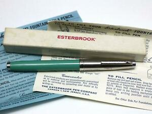 NOS Vintage Esterbrook Deluxe LK Fountain Pen Willow Green w/ Box UNINKED MIB