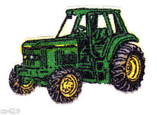 "1.5"" JOHN DEER TRACTOR FARM CHARACTER NOVELTY  FABRIC APPLIQUE IRON ON"