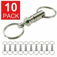 10-Pack Detachable Pull Apart Quick Release Keychain Key Rings Key Chain