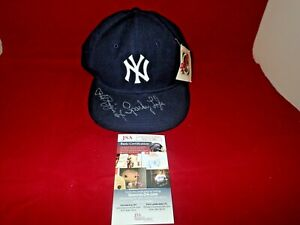 Phil Rizzuto Sparky Lyle Signed NY Yankees Authentic New Era Hat - JSA NN75706