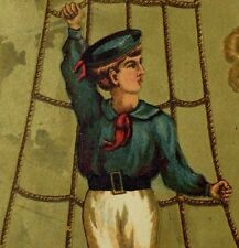 Kendall MFG Co Soapine Soap Young Sailor Boy Ropes Ship Home In Clouds F75