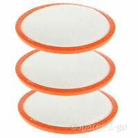 3 x Pre Motor Filter Pads for Vax Mach Air Cylinder Power 6 9  Vacuum Cleaners