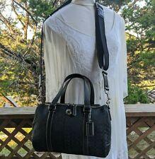 Coach Black Signature C Logo Train Case Travel Cosmetic Bag Toiletry - #77118