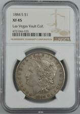 1884-S Morgan Silver Dollar NGC XF 45 - No Reserve Auction 99C Opening Bid