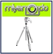 Manfrotto MKCOMPACTACN Compact Action Aluminium Tripod (White)