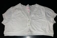 GAP GIRLS M (8) White 2-Button Cropped Cardigan EUC