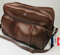VINTAGE American Tourister Brown Carry On Luggage Shoulder Purse Tote Bag w/ Key