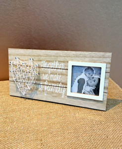 Together We Make A Family String Art Heart Wooden Photo Frame / Family Gift