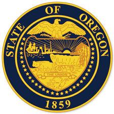 """Oregon State Seal car bumper sticker 4"""" x 4"""""""