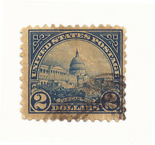 US Sc 572 Blue Capitol $2.00 Canceled No Gum Hinged