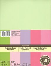 """New Recollections 8.5x11"""" Cardstock Paper Butterfly Wings 50 Sheets"""