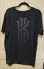 The Nike Tee Dri Fit Short Sleeve Kyrie Ii with Textured Graphic Black Size Larg