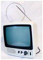 TV Televisione Vintage MIVAR 9BN2V  B/N  Anni '60 Bianca Non Funzionante