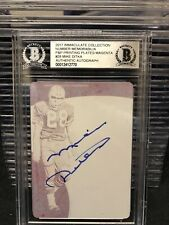 Mike Ditka 2017 Immaculate Football 1/1 Printing Plate Auto Beckett Bears