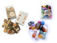 Fossil Box + Gemstones Box Semi-Precious Crystals Gift Set