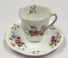 Vintage Shelley Dematasse Tea Cup & Saucer  Wildflower