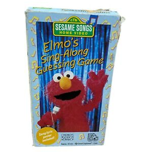 SESAME SONGS ELMO'S SING-ALONG GUESSING GAME VHS TAPE NO POSTER
