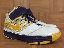 RARE🔥 Nike Zoom Kobe II 2 Lakers Home White Maize Gold Purple 10.5 316022-171