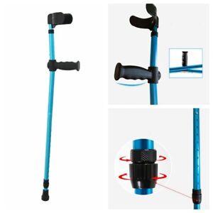 Height Adults Foldable Heavy Duty Walking Forearm Crutch Stick Aluminum Alloy