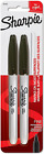 Sharpie 30162PP Permanent Markers, Fine Point, Black, 2 Count 2-Pack