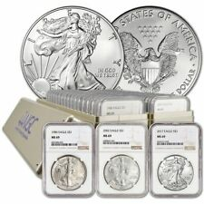 New Listing1986 - 2020 Complete 35 Coin American Silver Eagle Set Ngc Ms 69