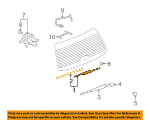GM OEM Wiper-Rear Window Blade 96624648