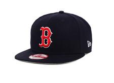 NEW ERA 9FIFTY SNAPBACK CAP. MLB BOSTON REDSOX. OFFICIAL TEAM COLOURS