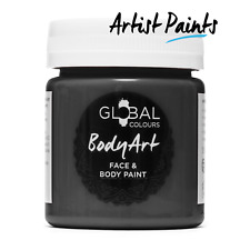 Water Based Black 45ml Face and Body Paint Makeup Genuine Global Colours -