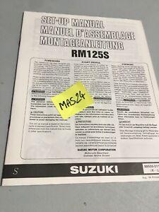 Suzuki Rm125 S 1995 RM 125125RM Instrucciones Preparation Manual Montaje