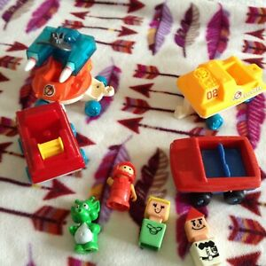 Lot of 8 vintage misc  Play school toys figures..