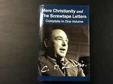 New ListingMere Christianity And The Screwtape Letters In One Volume C.S. Lewis Hc 2003 449
