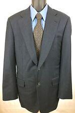 PAUL STUART Navy 100% Wool Super 100's Two Button Suit Blazer Jacket Sz 42 XLong