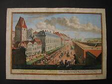 Salomon Kleiner ANSICHT DER WIENER HAUPTMAUTH BEI DEM ROTEN THURM um 1725 Wien