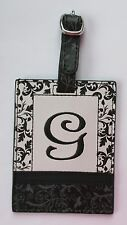 g G INITIAL LUGGAGE TAG bag ID suitcase vegan letter NWT travel accessory Ganz